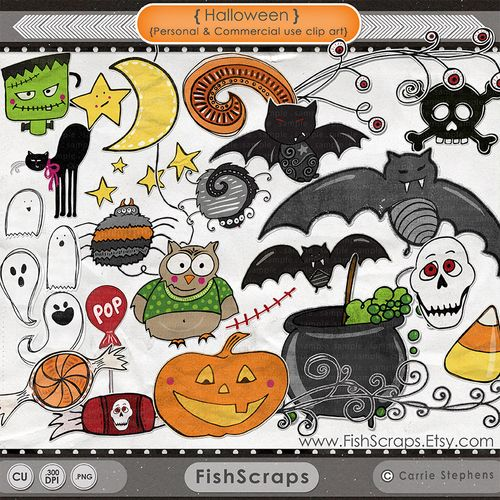Halloween Clip Art Free Digital Download